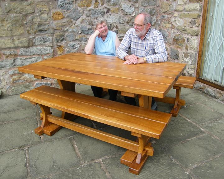 Garden Furniture Cheshire Bespoke outdoor garden furniture handmade in the uk solid wood outdoor table and benches solid wood outdoor table and benches workwithnaturefo