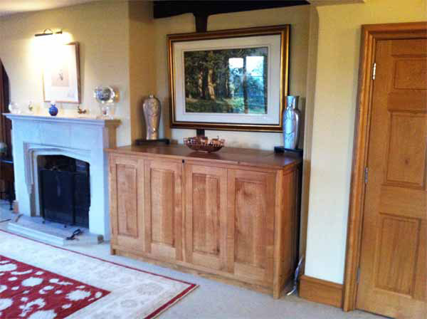 Bespoke furniture from your own tree handmade in the uk for Acorn kitchen cabinets