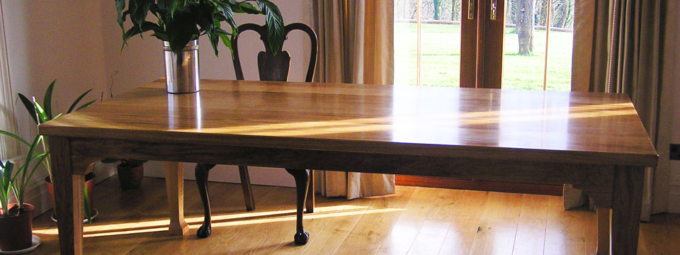 Dining table made from oak