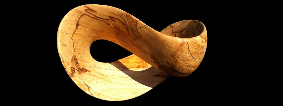 Mobius sculpture art handmade in the uk