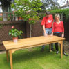 Bespoke oak dining table for a couple from Holland